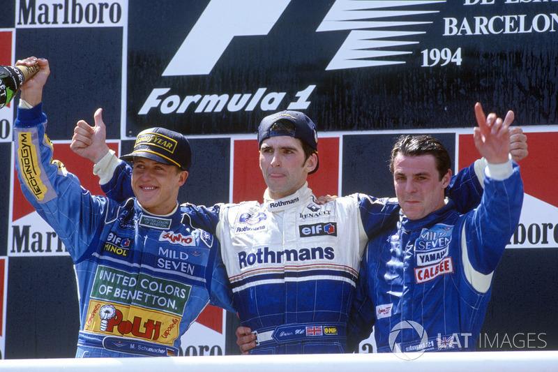 f1-spanish-gp-1994-podium-winner-damon-hill-williams-second-place-michael-schumacher-benet