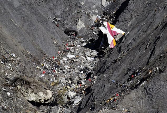 GermanWings plane crash wreckage